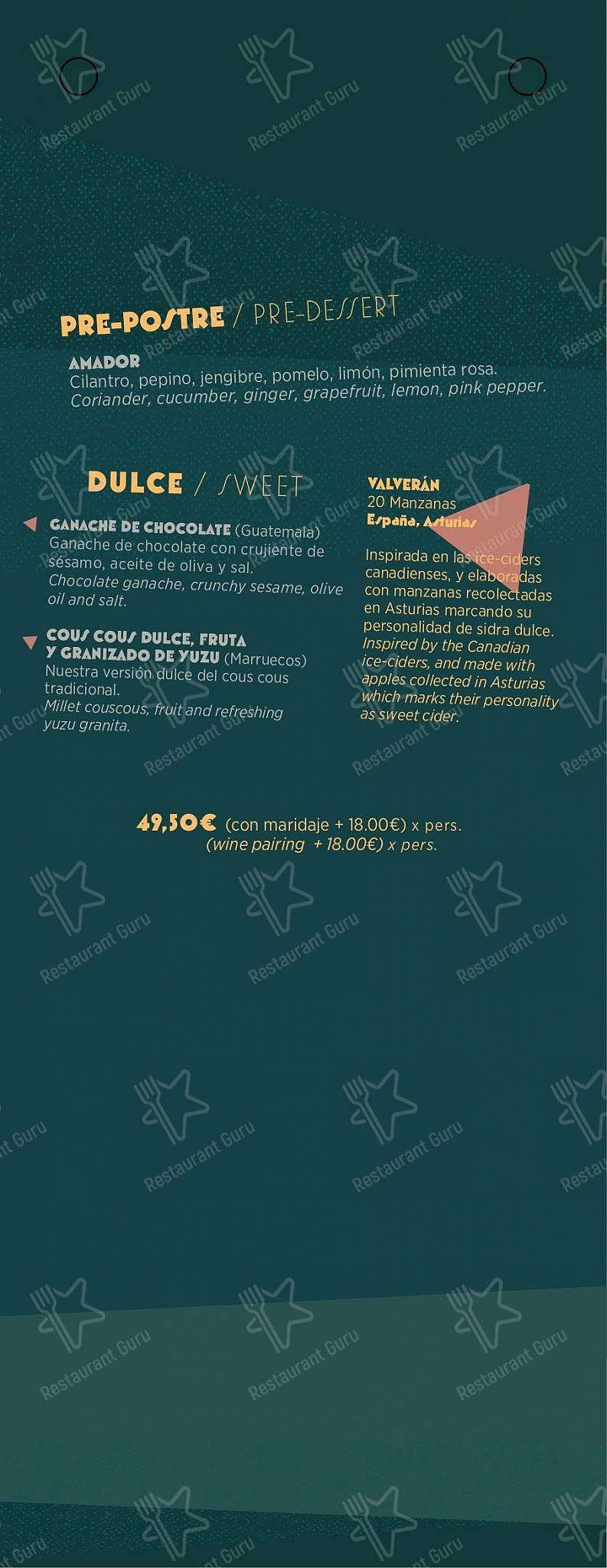 Menu for the Chaka Khan - Gastro Bar Exotique pub & bar