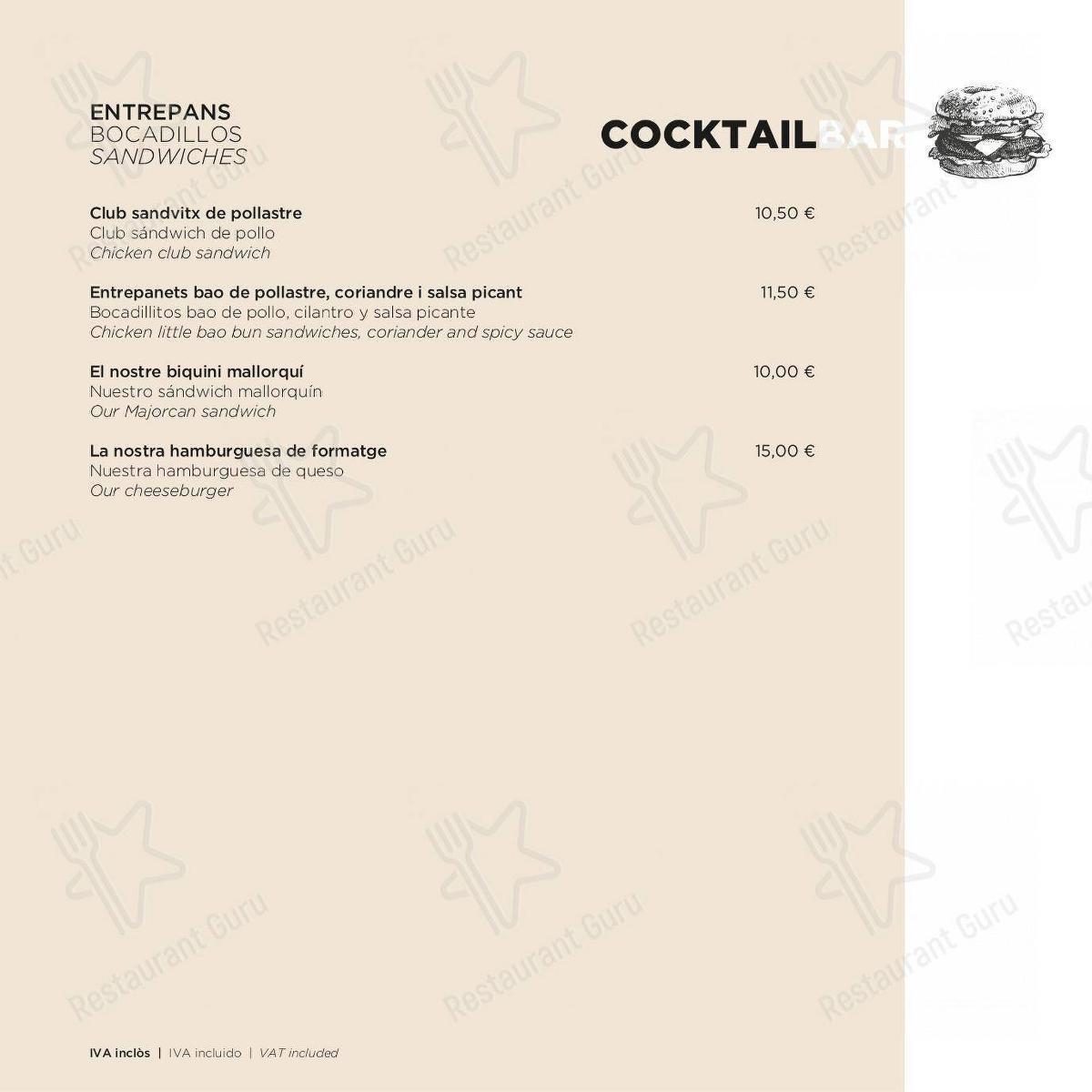 ECHO Restaurant - Cocktail Bar menu