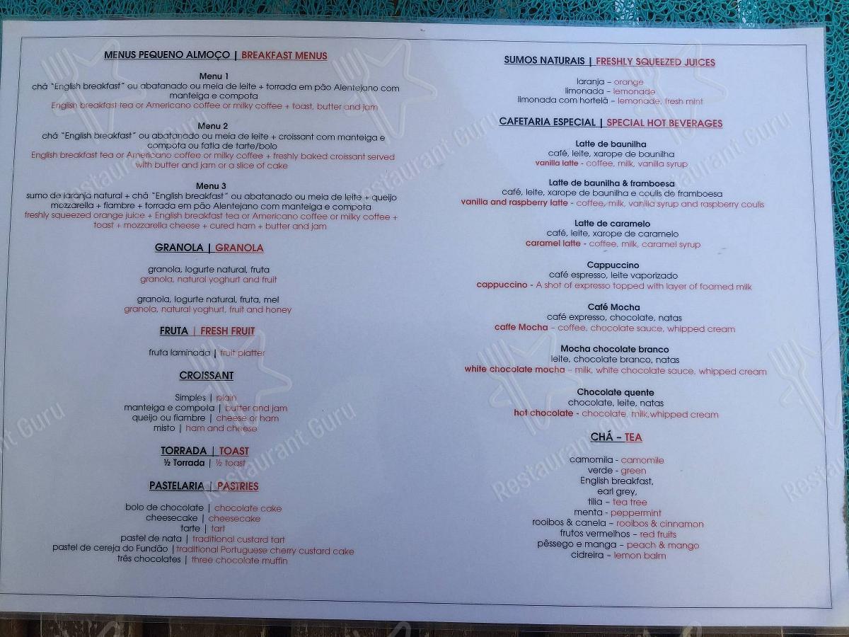 Explore o menu para Luca