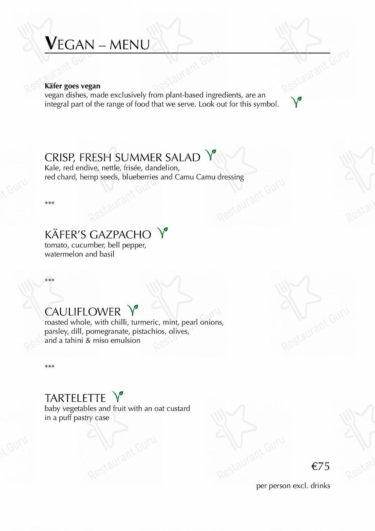 Speisekarte von Käfer-Schänke restaurant
