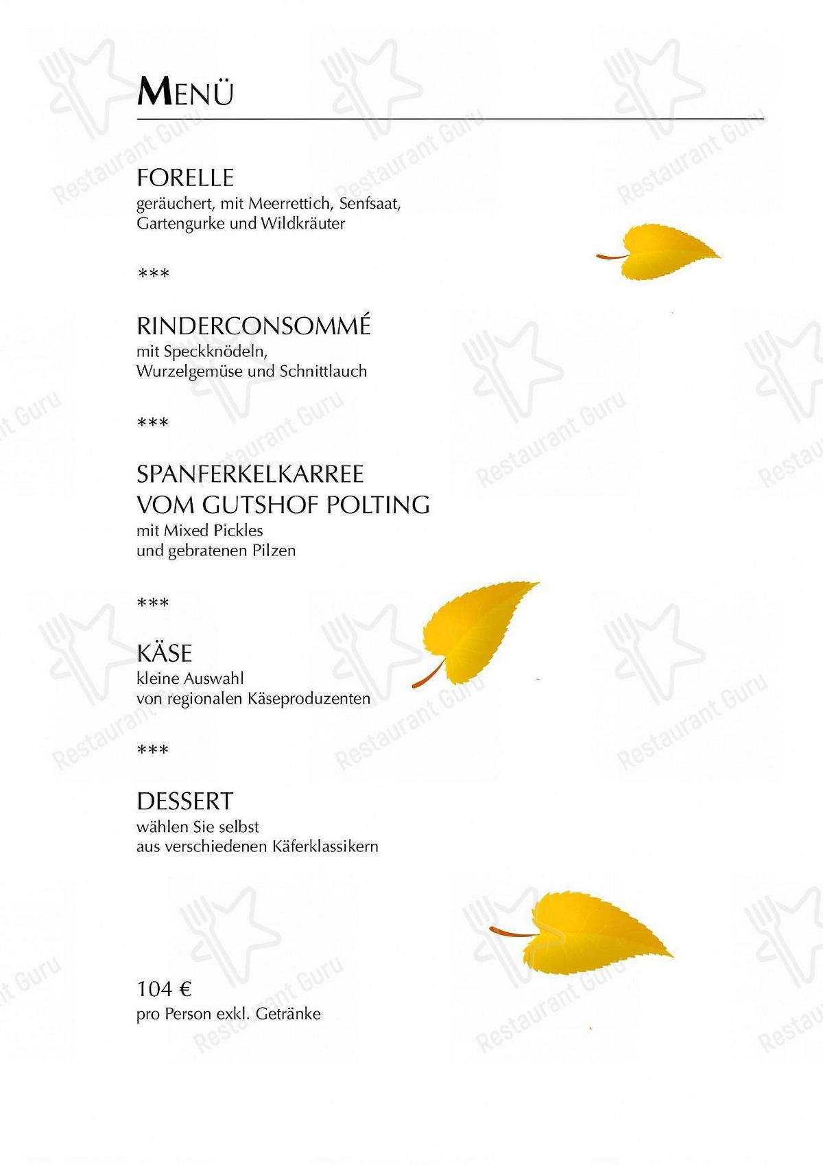 Seht euch die Speisekarte von Käfer-Schänke an