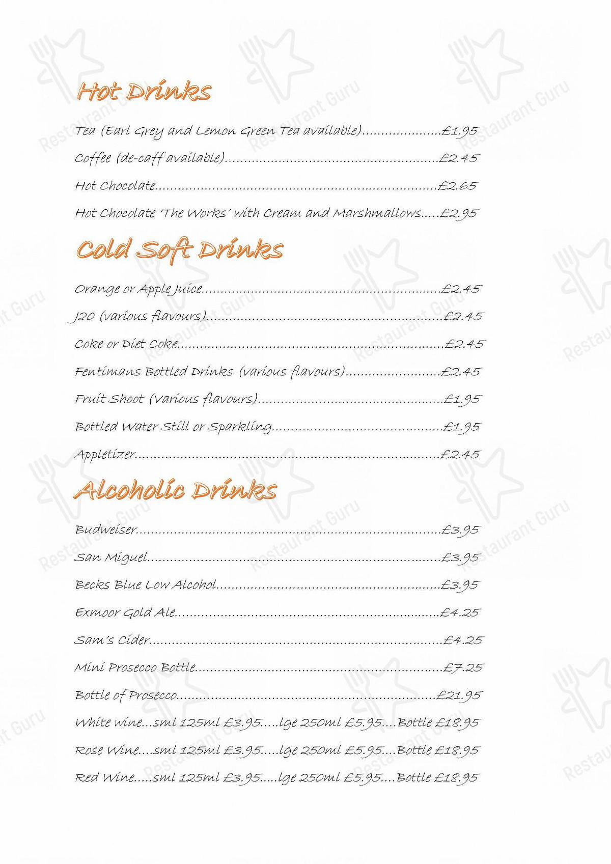 S & P Fish Shop menu - dishes and beverages