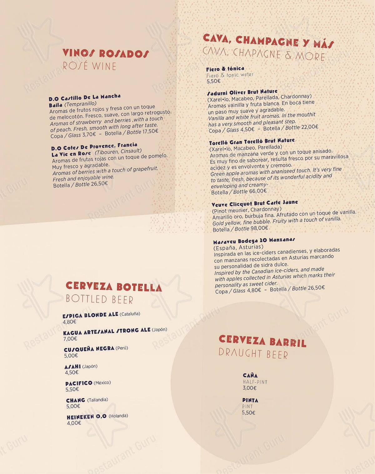 Check out the menu for Chaka Khan - Gastro Bar Exotique