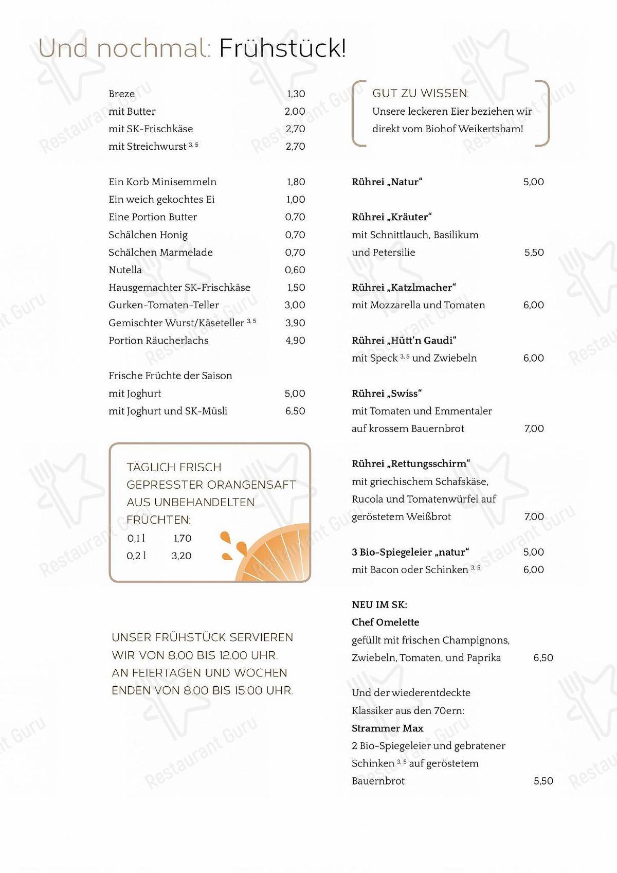 Stechl Keller menu