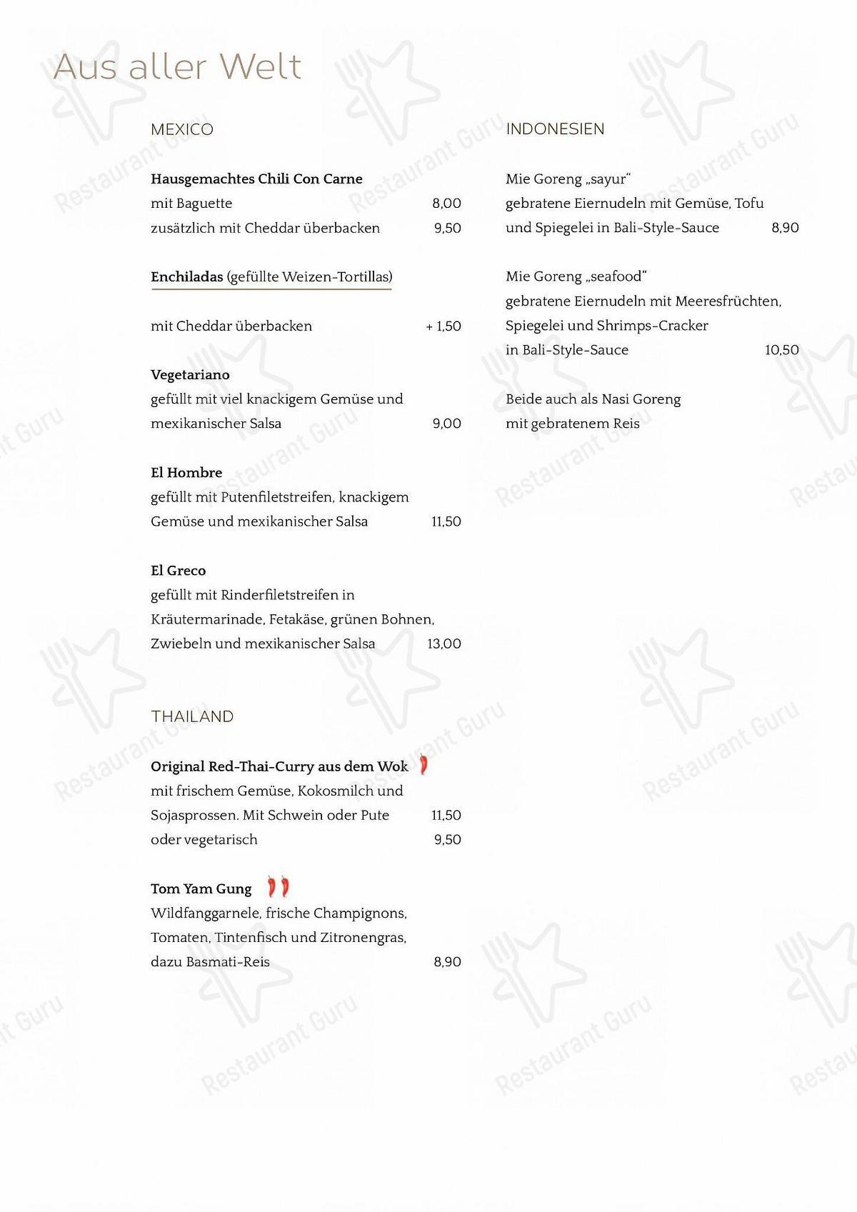 Stechl Keller menu - dishes and beverages