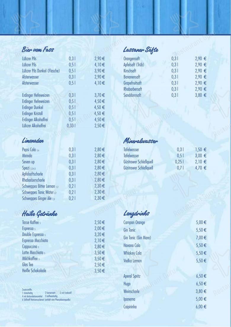 Carta de Nepperminer Fischpalast - comidas y bebidas