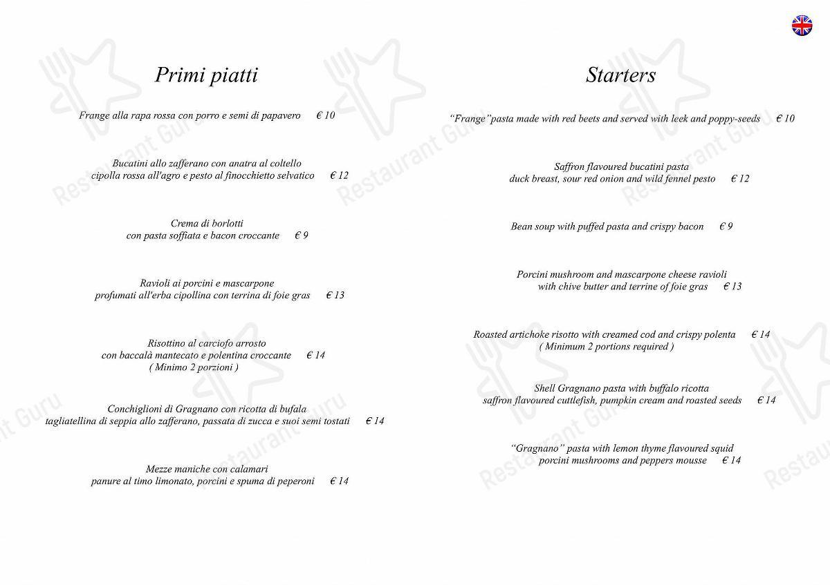 L'Antico Forziere Speisekarte - Essen und Getränke