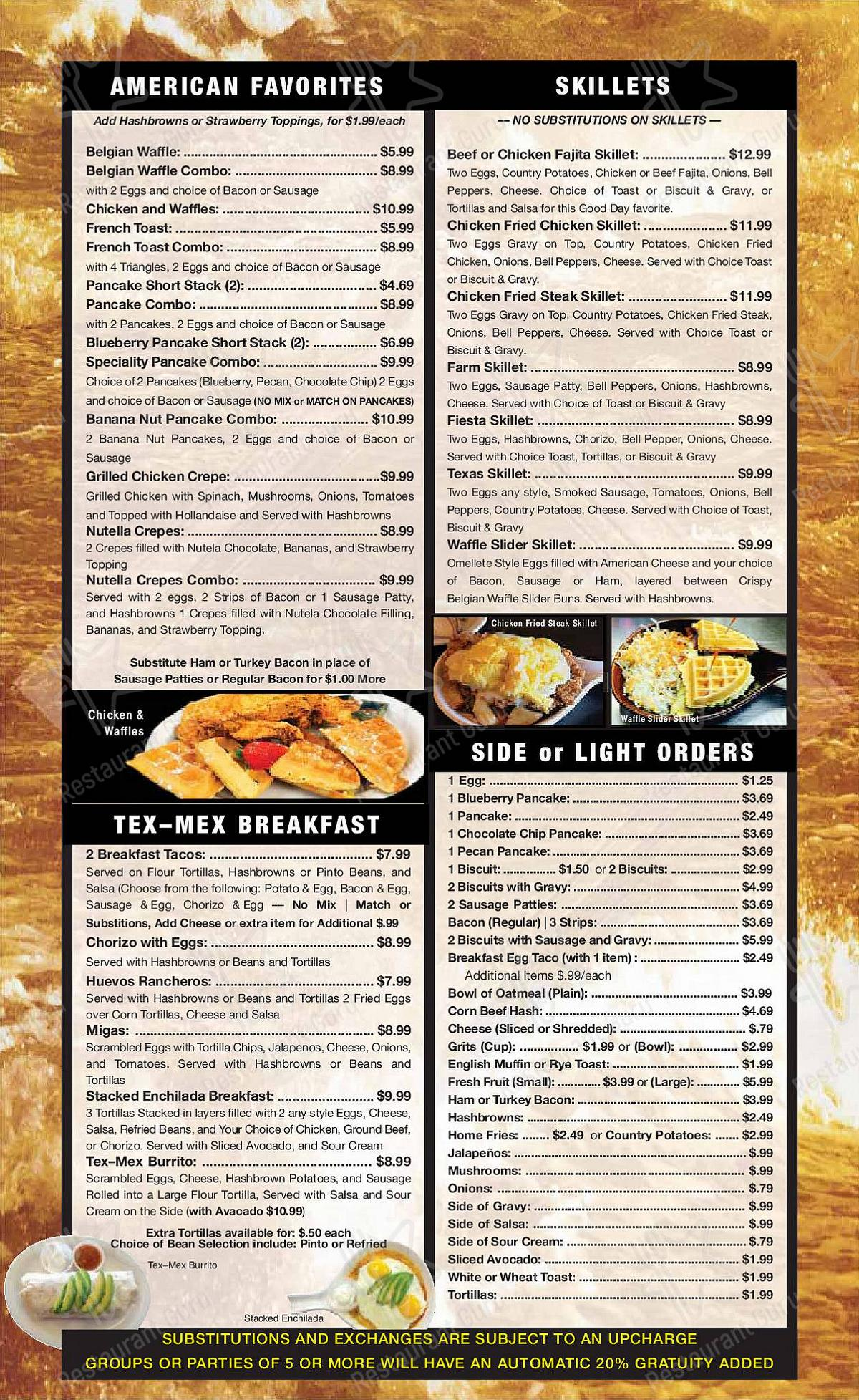 Check out the menu for Good Day Cafe