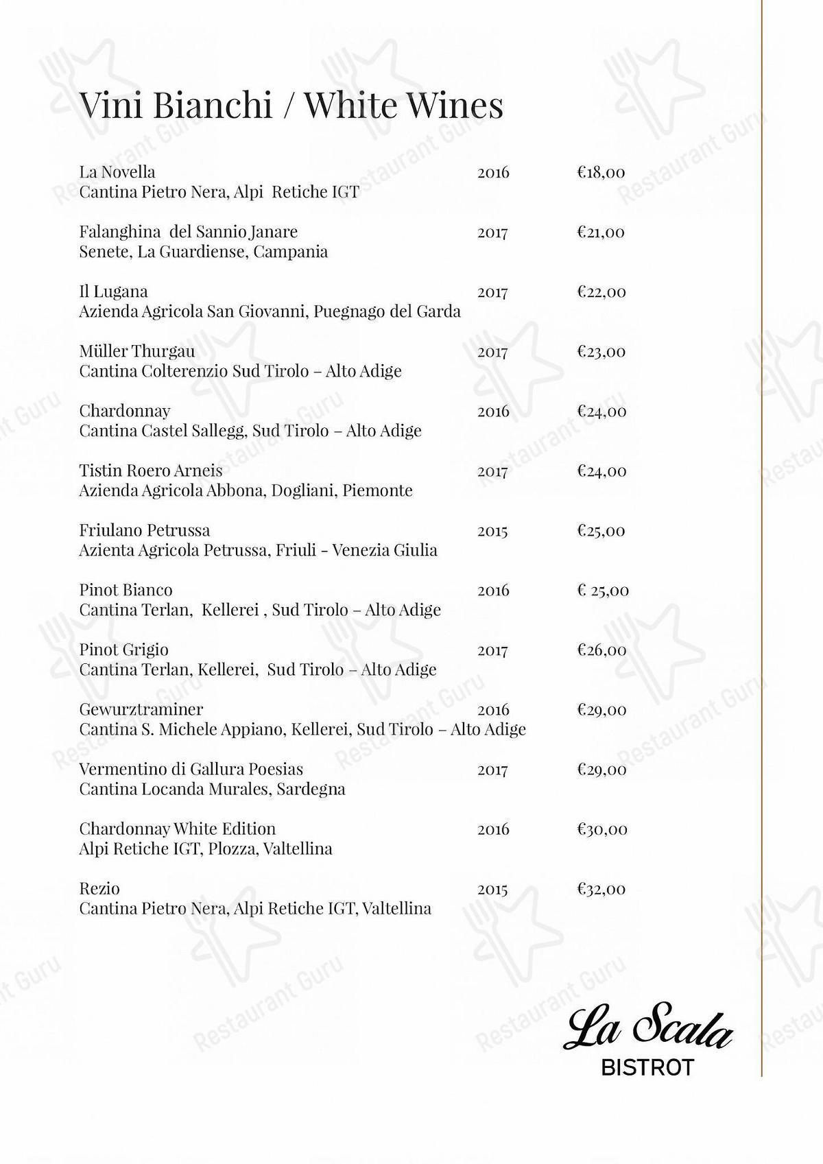 Menu di La Scala Bistrot - pasti e bevande