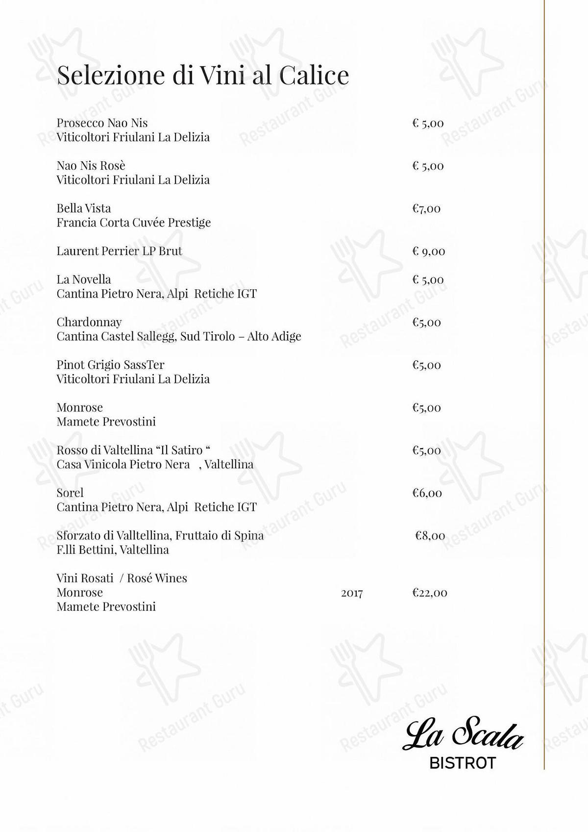 Menu per La Scala Bistrot ristorante