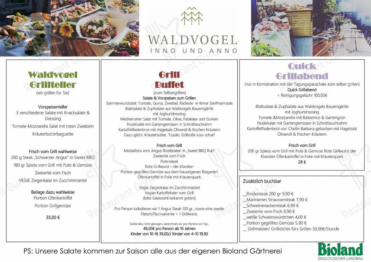 Menu At Waldvogel Hotel Restaurant Leipheim