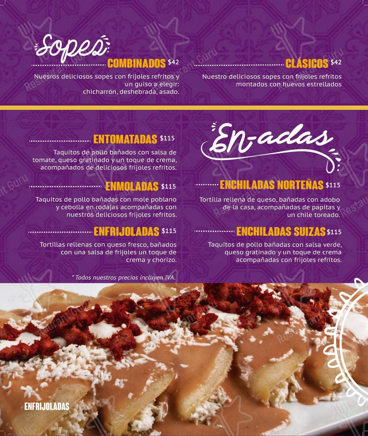 Carta de Las Brazas - Paseo Tec - comidas y bebidas