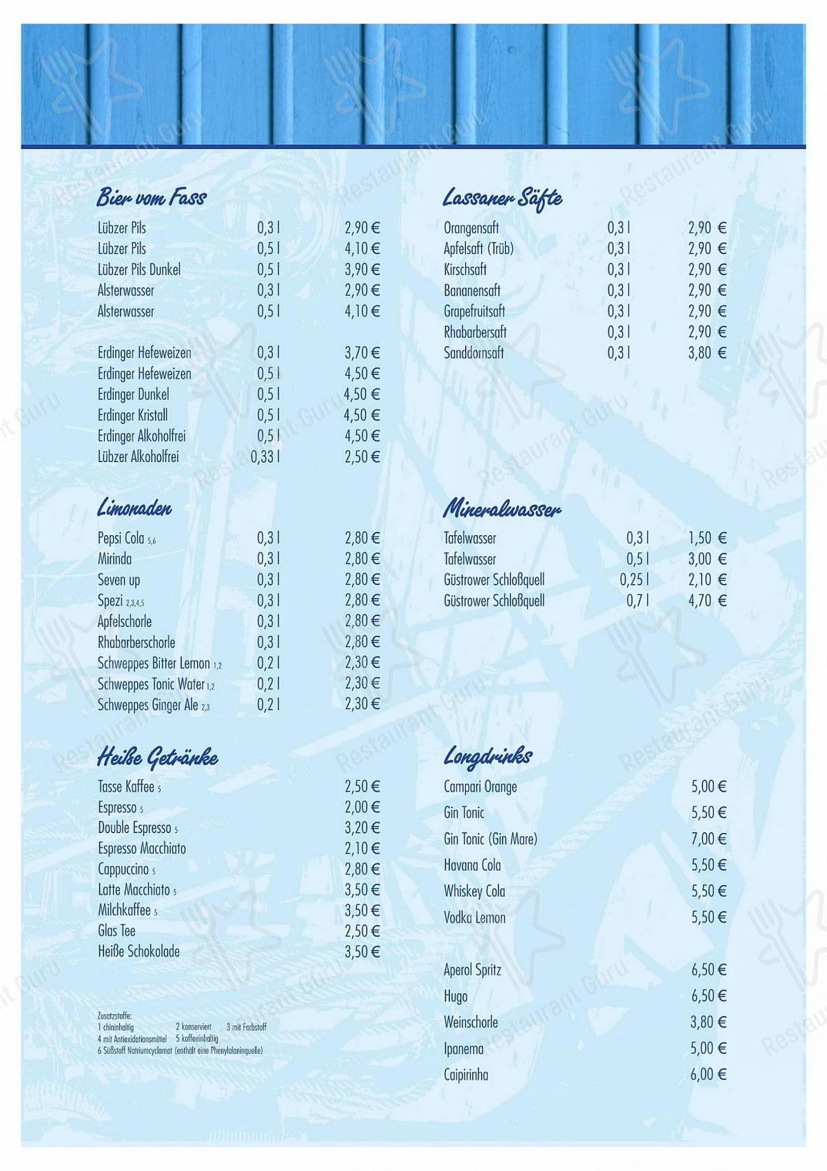 Carta de Nepperminer Fischpalast restaurante