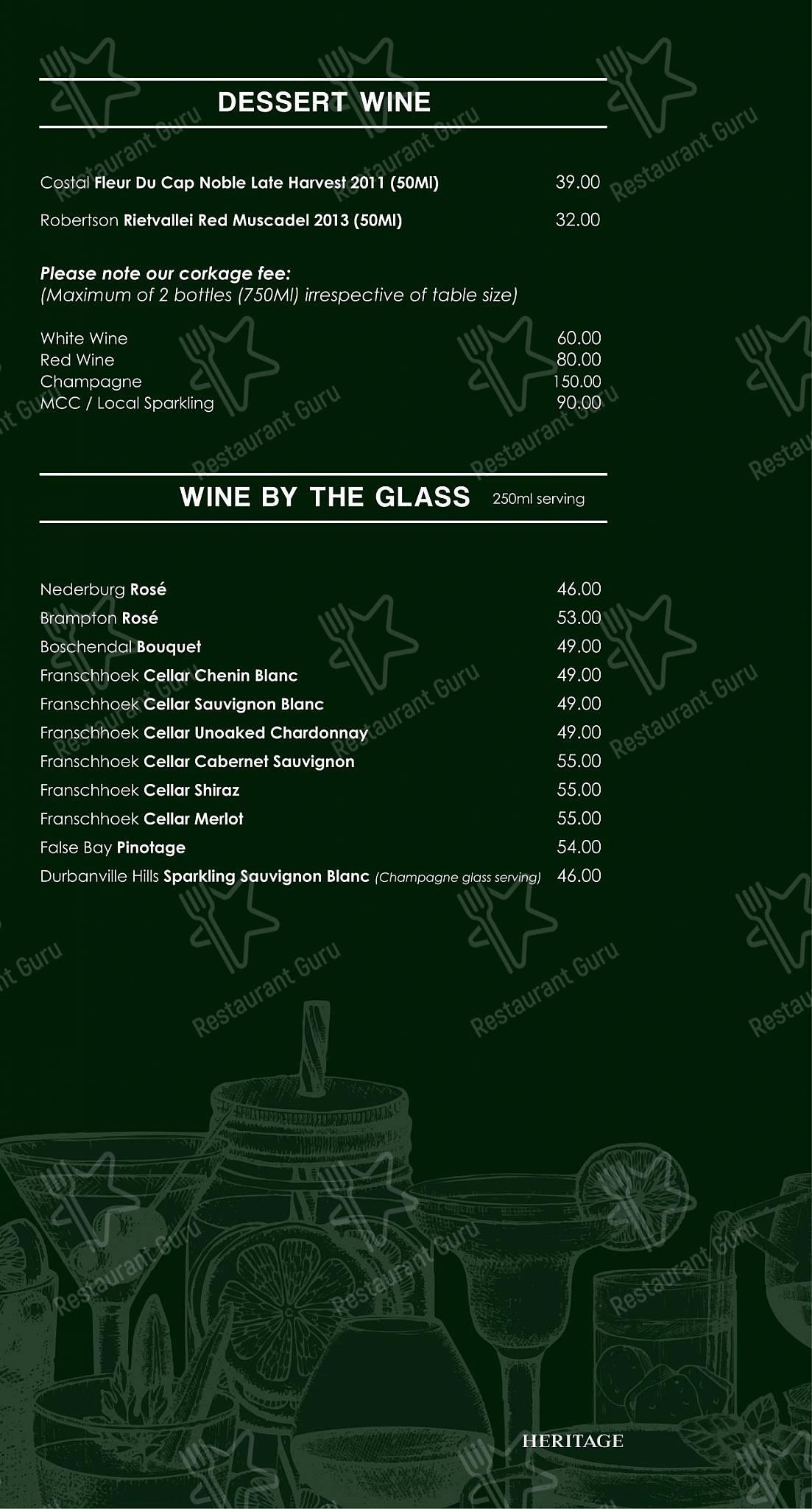 Mike's Kitchen in Johannesburg - Wine Menu