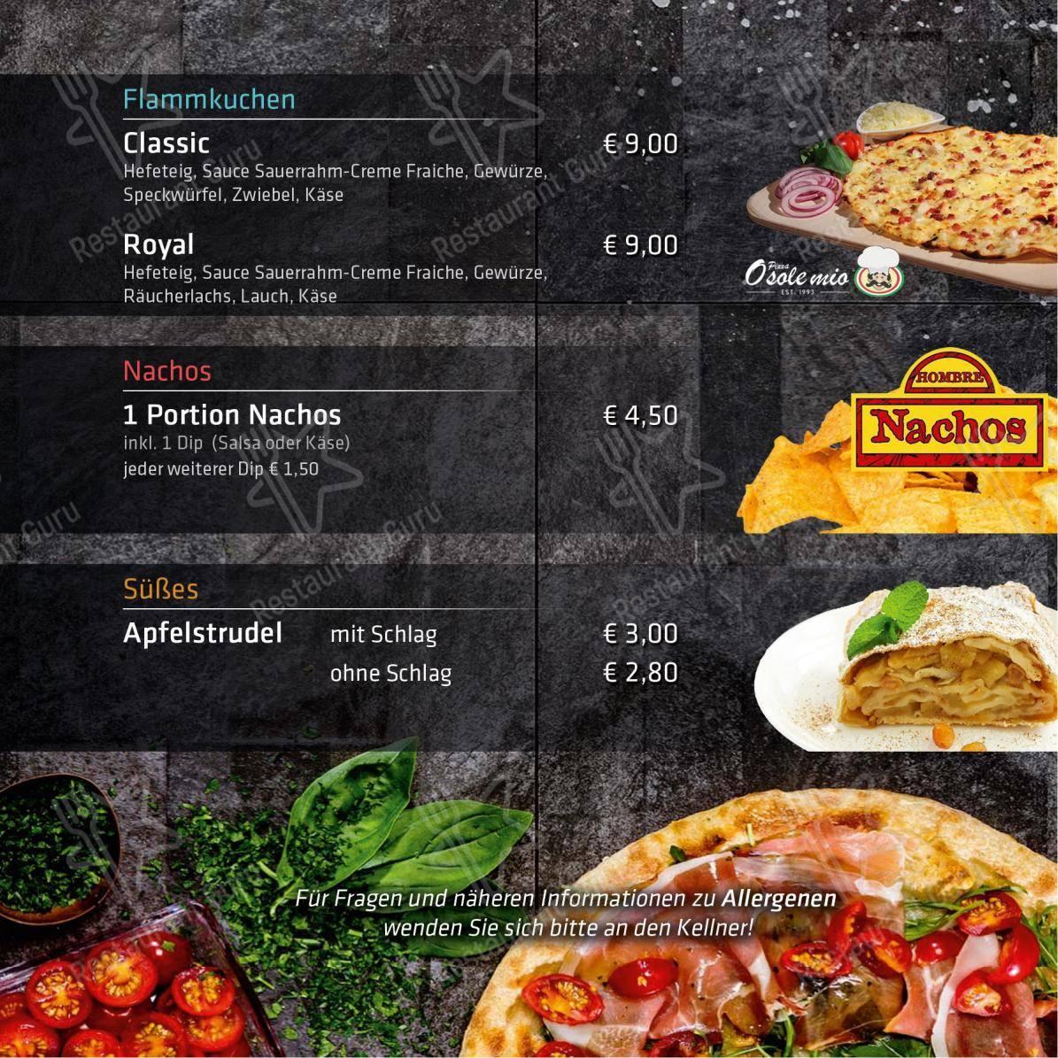 ANDIs Cafe Bar Speisekarte - Gerichte und Getränke