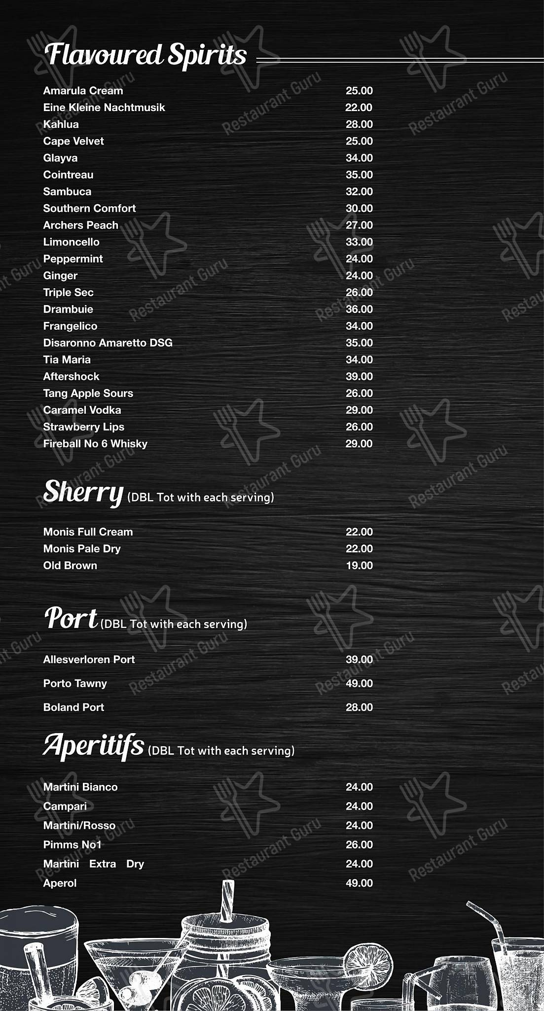 Mike's Kitchen menu - dishes and beverages