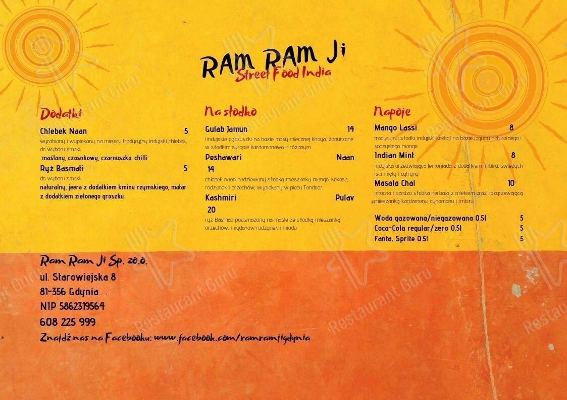 Ram Ji Indian Street Food menu