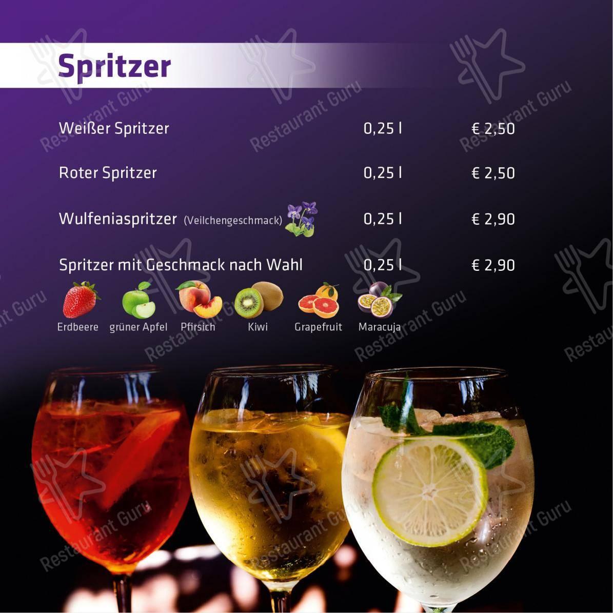 Speisekarte von ANDIs Cafe Bar cafe