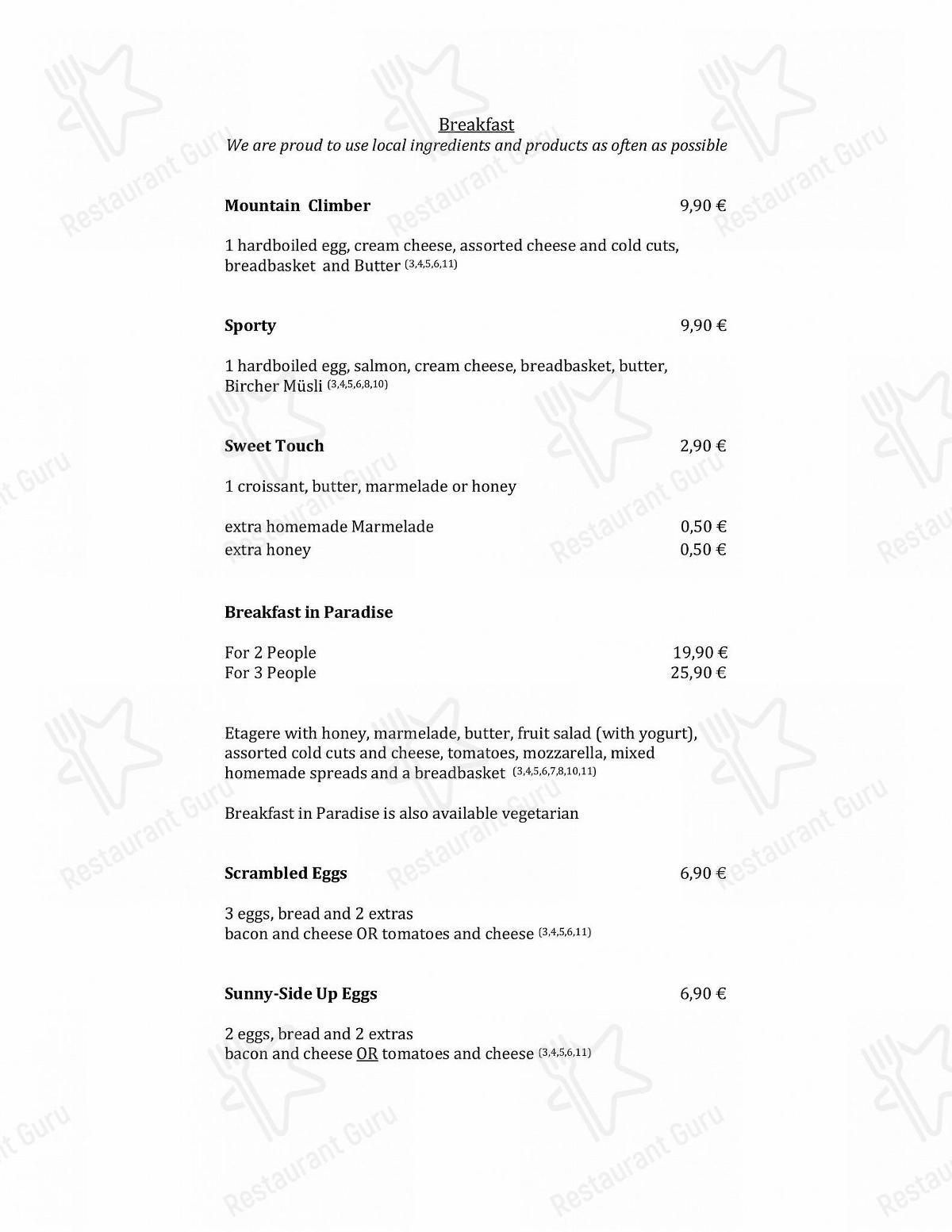 Speisekarte von Café Auszeit cafe, Konstanz