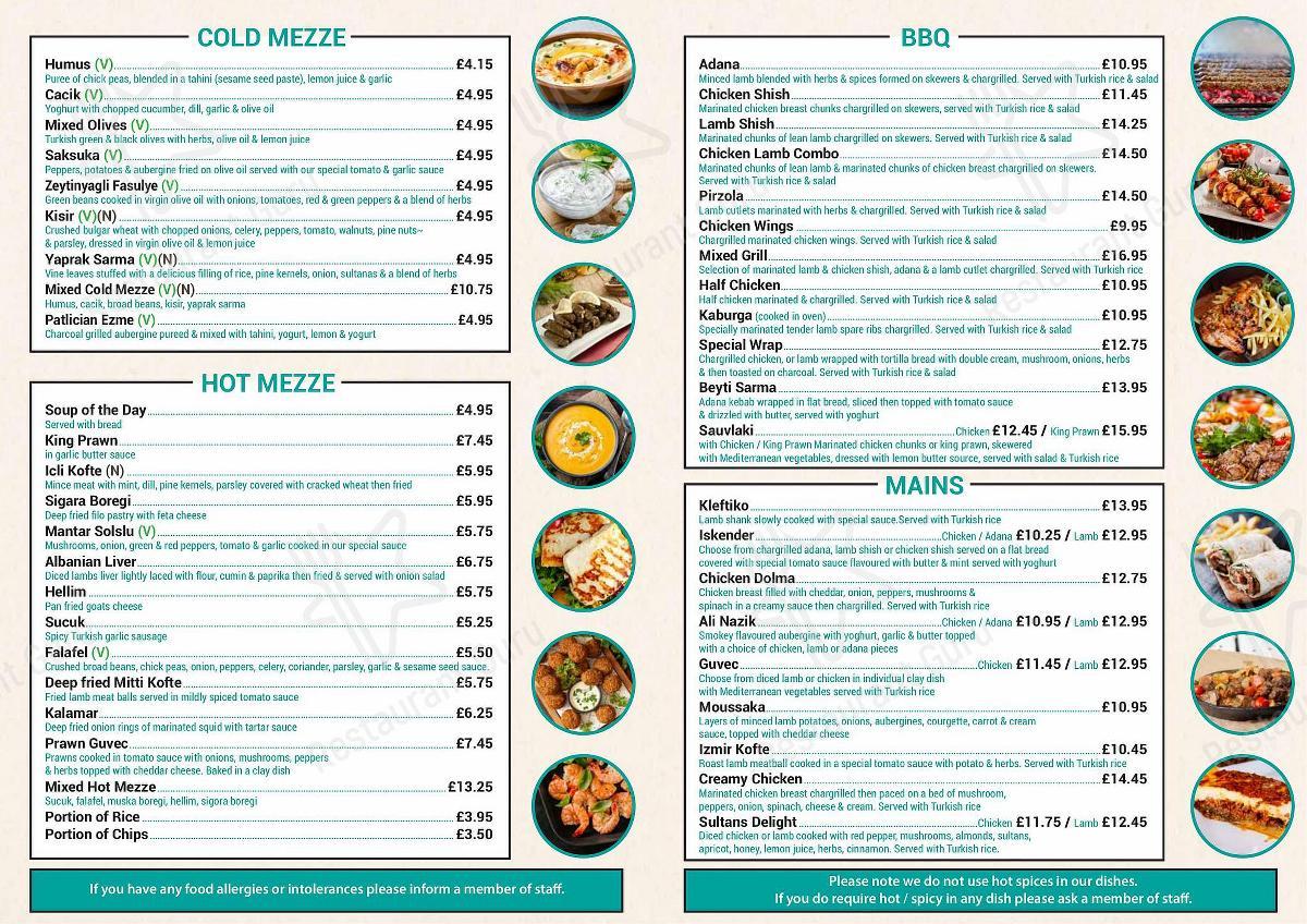 Check out the menu for Caspian Restaurant