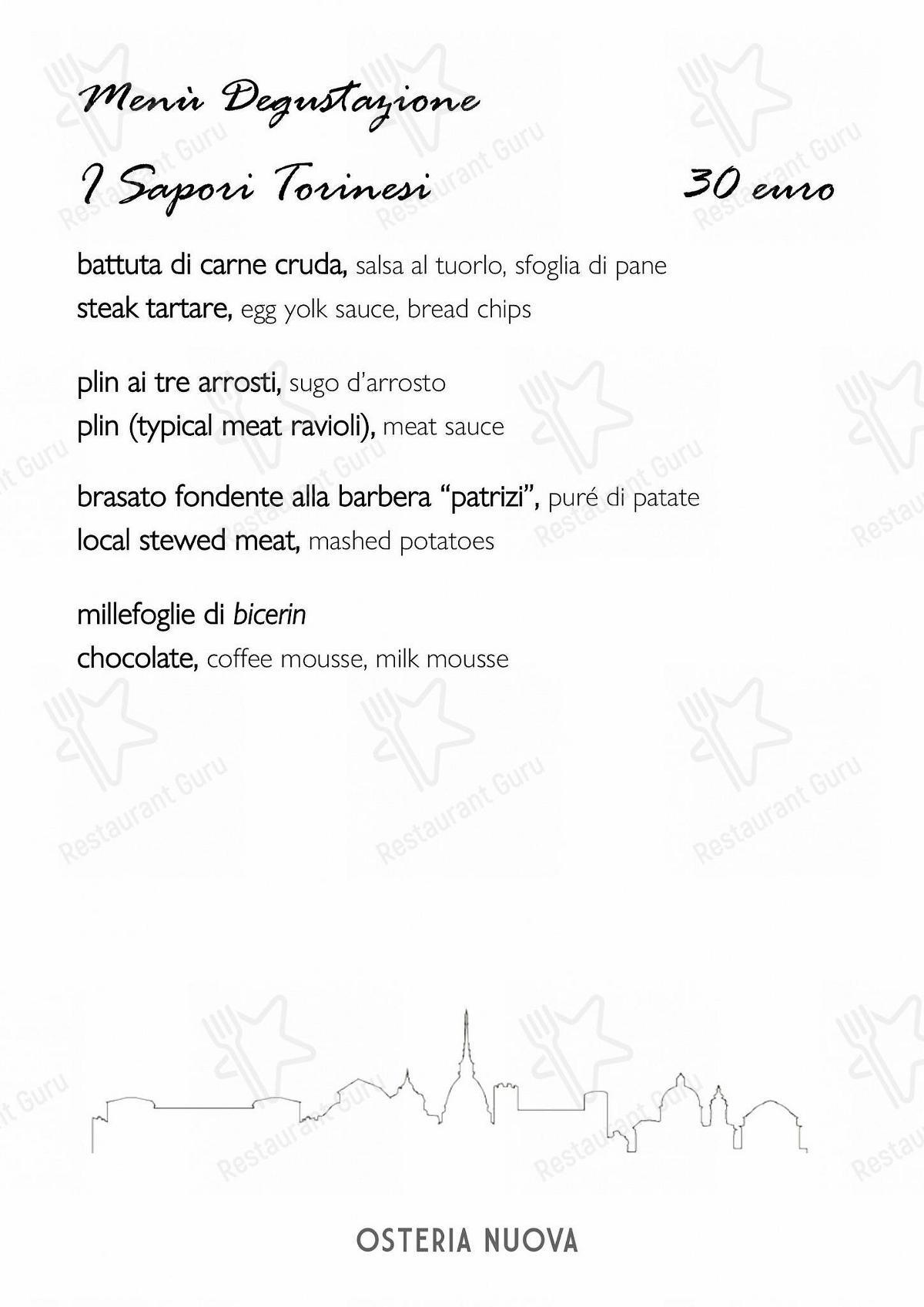 Menu di Casaslurp Osteria Nuova - piatti e bevande