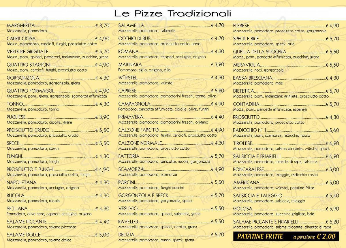 Pizzeria D'asporto L'Amalfitana menu - meals and drinks