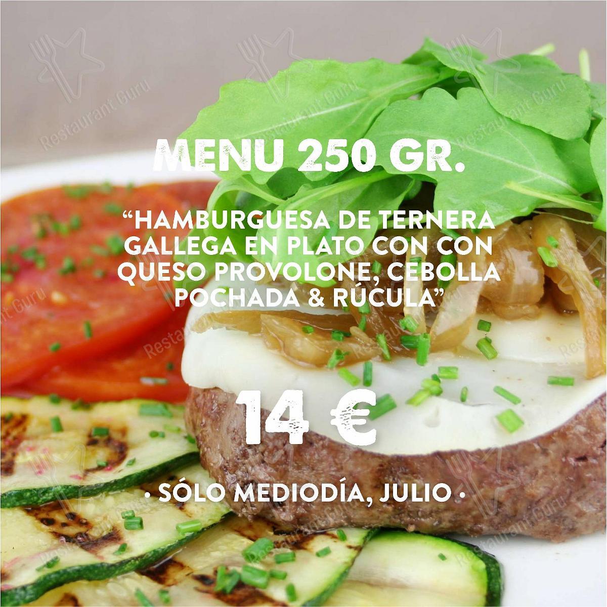 Menu for the Hamburguesería Jalos restaurant