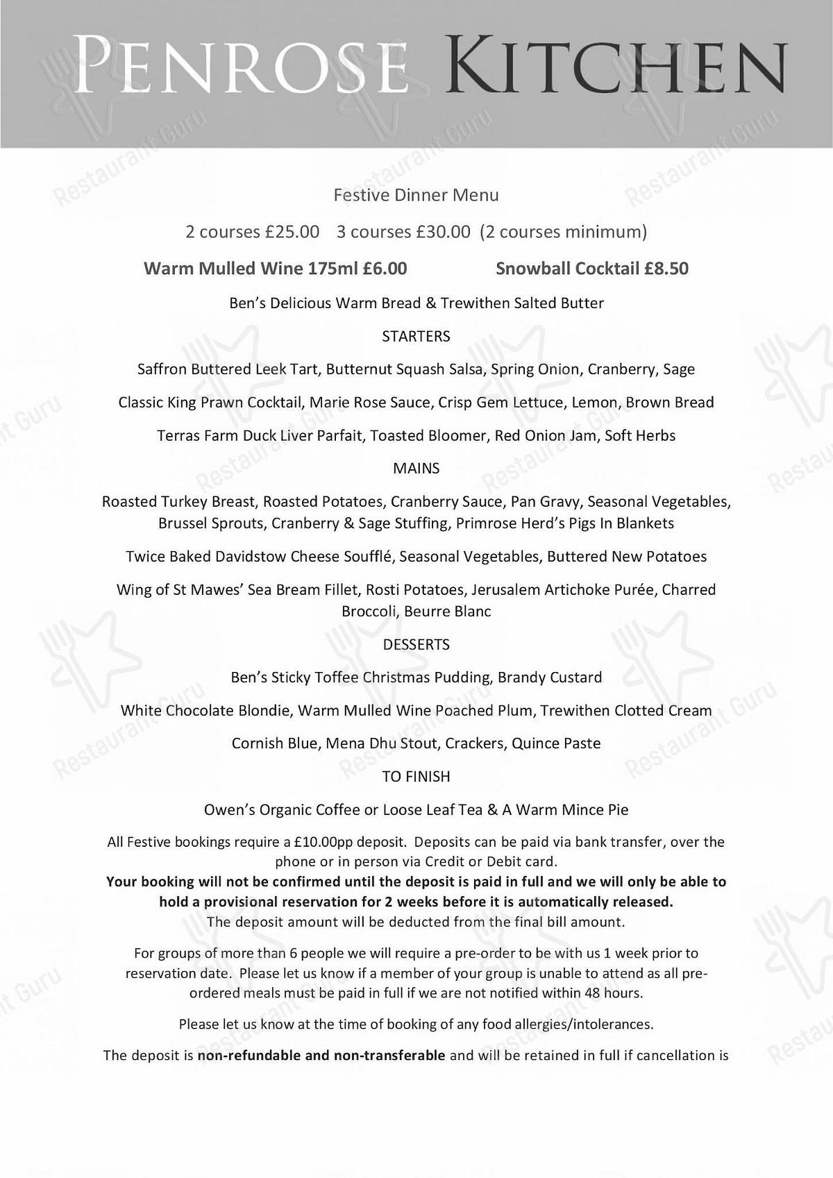 Check out the menu for Penrose Kitchen