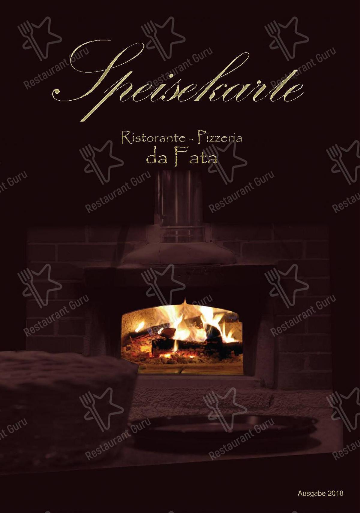 Check out the menu for Ristorante da Fata