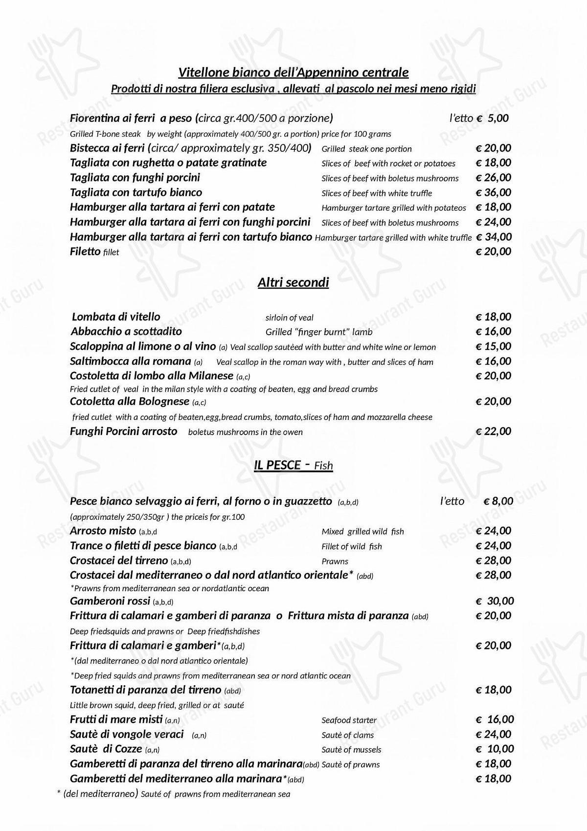 Menu di Hostaria-Pizzeria da Cesare - MENU take away