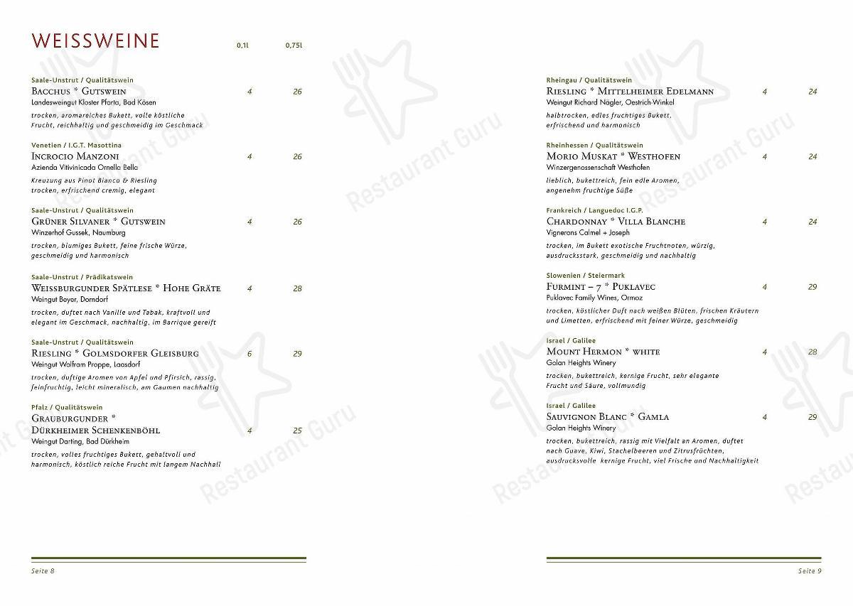 Grünspecht - Das Original Speisekarte - Essen und Getränke