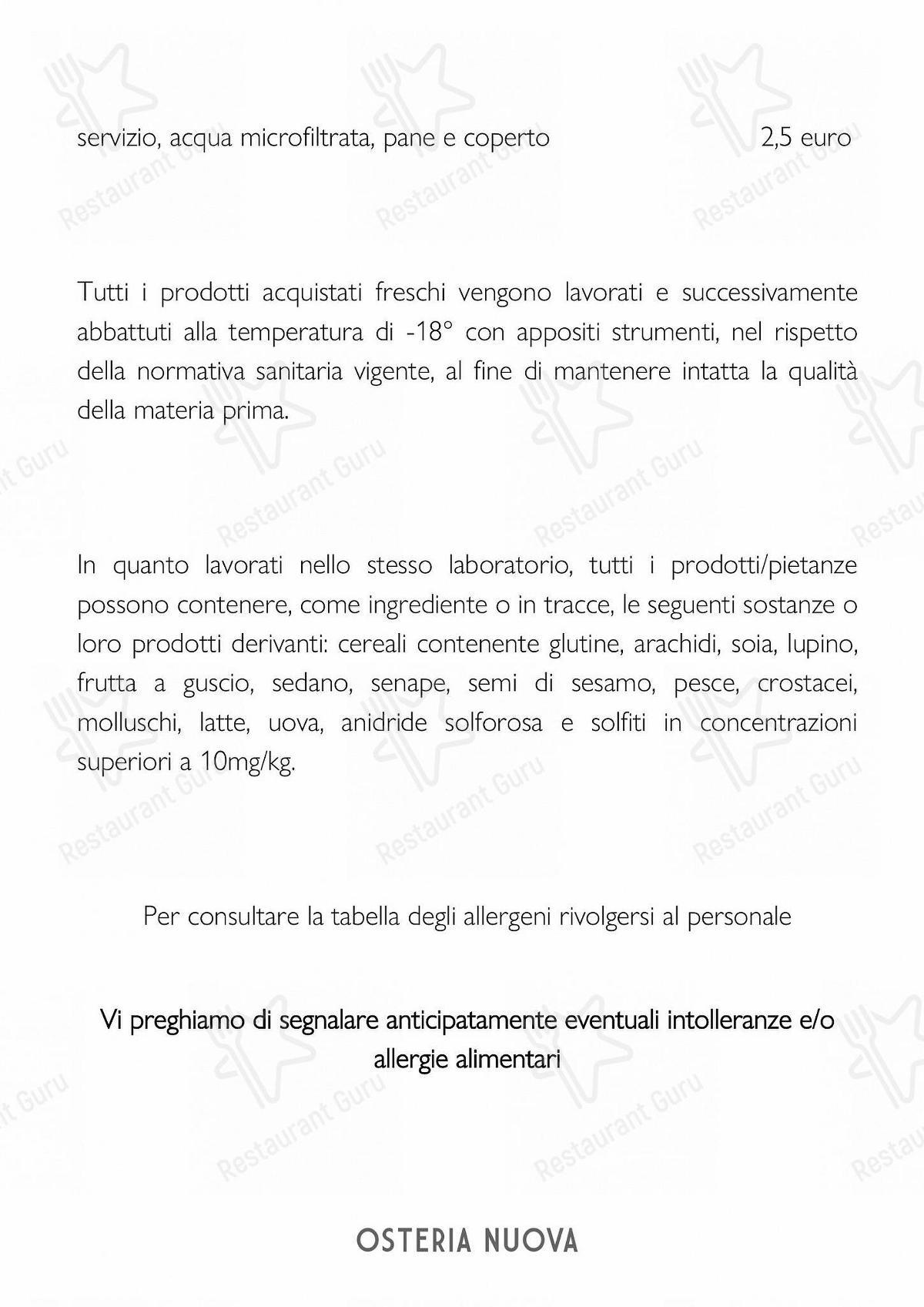 Guarda il menu di Casaslurp Osteria Nuova