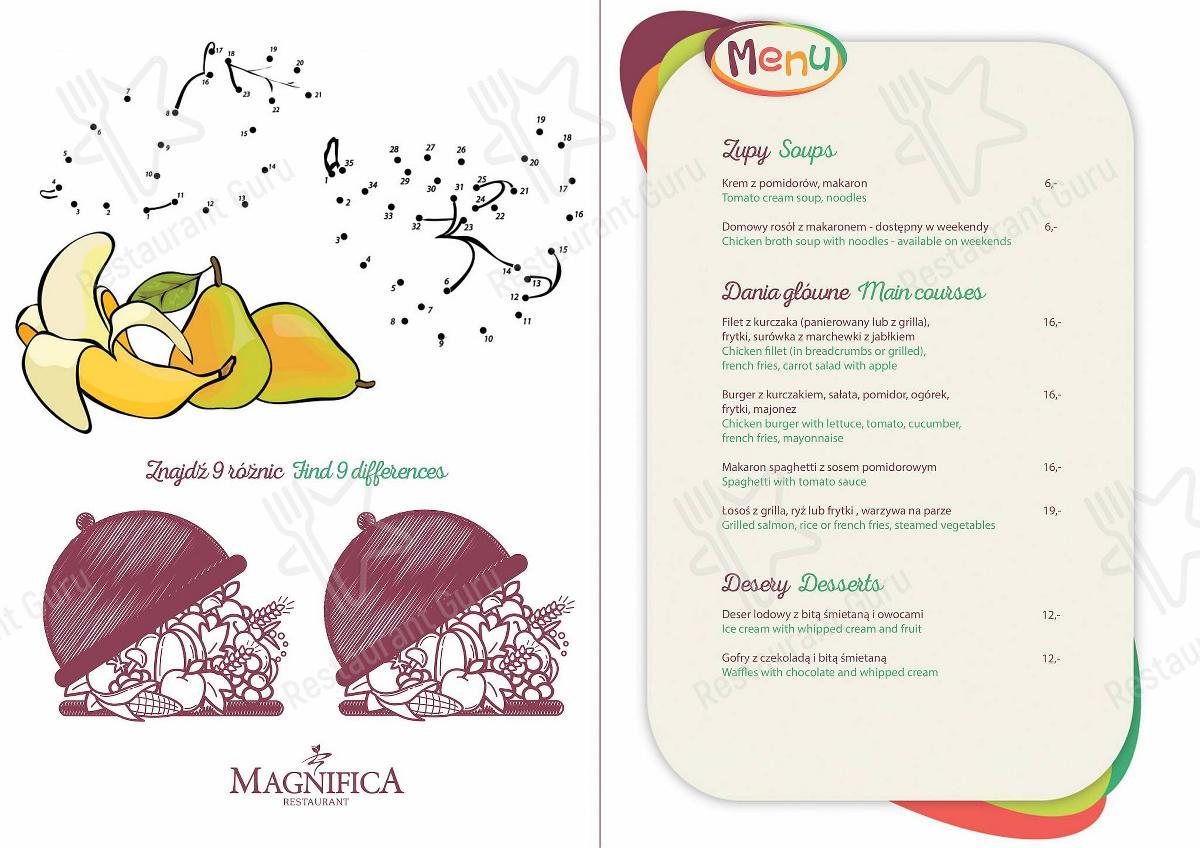 Restauracja Magnifica menu - meals and drinks