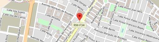 Cafeteria Isidro en el mapa