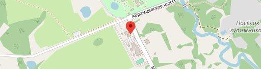 Cafe Abramtsevo sur la carte