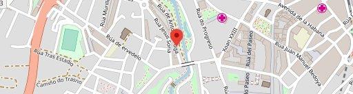 Hora Meiga en el mapa