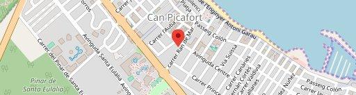 Can Montevideo en el mapa