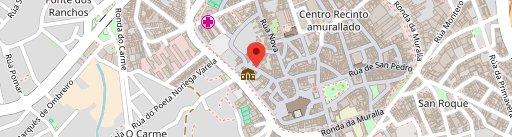 Casa da Auga en el mapa