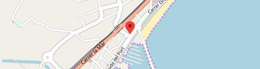 Díferens puerto en el mapa