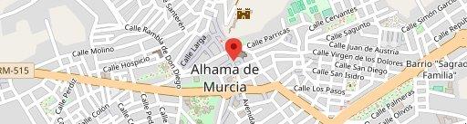 El laurel en el mapa