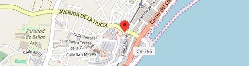Perro Negro on map