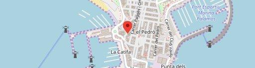 El Racó de Palamos en el mapa