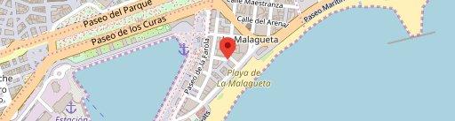 Restaurante El Sacromonte Tapas en el mapa