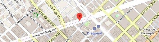 Farga Diagonal en el mapa