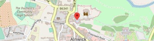 Alnwick Castle on map