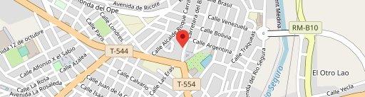 Restaurante Internacional en el mapa