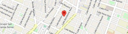 Peltre Cuina Mexicana en el mapa