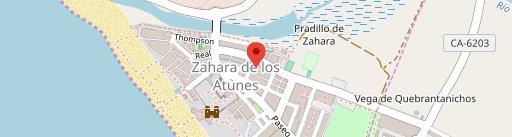 La corcha zahara en el mapa