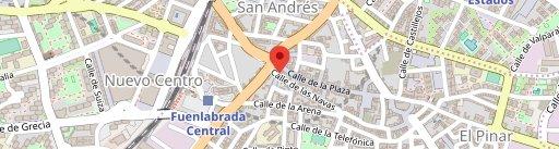 La Gata Azul en el mapa