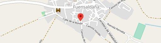 La taberna de Fuensaldaña en el mapa